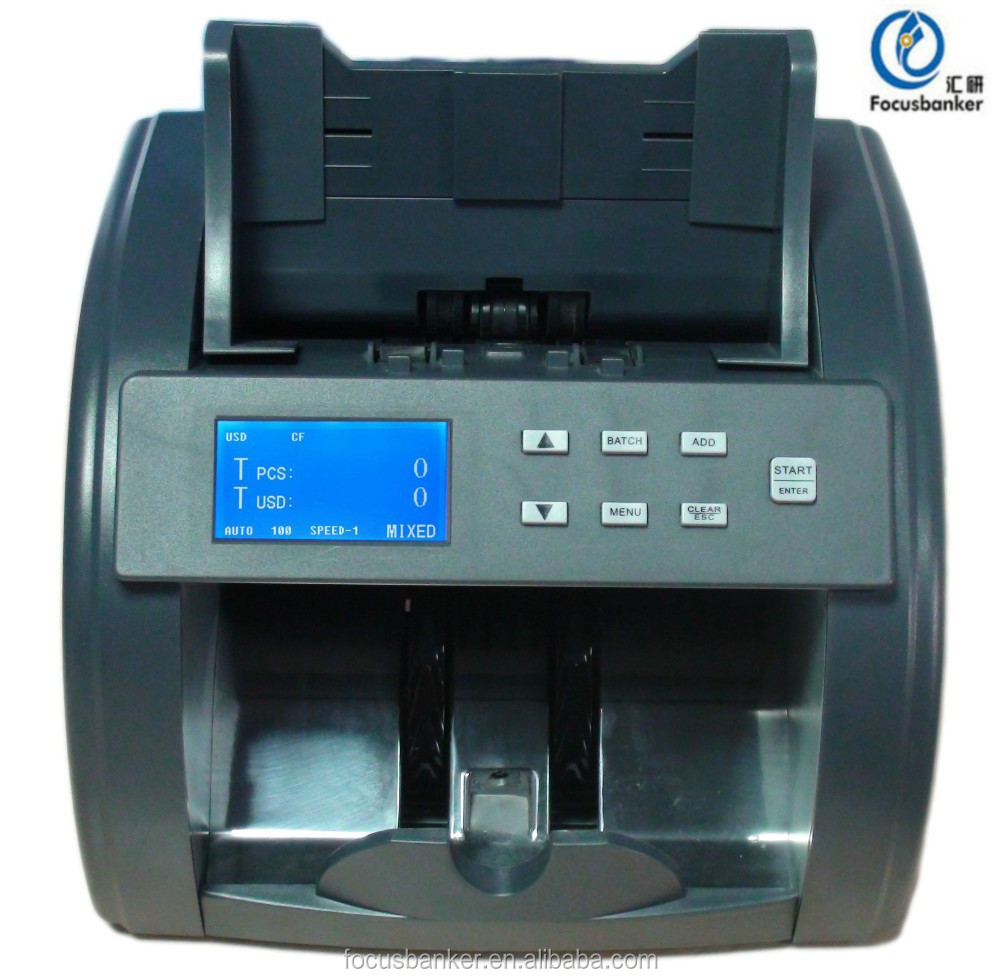 Front Loading Currency Mixed Denomination Money Counter/Detector/Sorter/Banknote Counting Machine for Saudi Arabian Riyal(SAR)