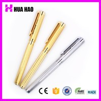 Customized logo gold wholesale metal promotional pure cheap gold pen