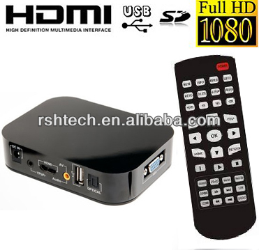 HD 1080P Media Player Center HDMI RM/RMVB SD USB VGA Reader TV Player F10 chipset