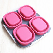 Insulated Food Containers for Kids and Adults 4-compartment silicone lunch box