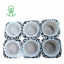 96.5% customer bought 6 paper cake cup muffin tray