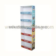 cardboard pos display with interchangeable header cards personal products shampoo display stands