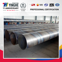 Spiral carbon steel pipe for low-pressure fluid transpor made in china on sales