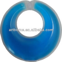 Artborne15p free of phthalate PVC Blue Color hot cold packs for breast--fomentation pad(CE &MSDS&RoHS approved)