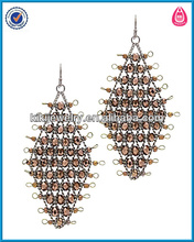 bulk buy from china basketball wives earrings wholesale mesh beads metal crystal mesh earring stand