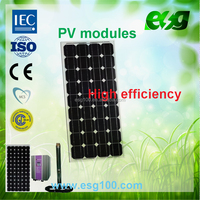 High efficiency 120W Monocrystalline silicon Solar Panel