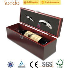 Wholesale classic red lacquered wooden wine packing boxes