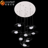 drum pendant light,black pendant light OM1020-9A Black