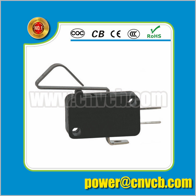 M14 KW7-4 lever electrical micro switch snap action switch two holes bent lever switch