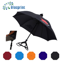 Wholesale auto open 24'' windproof strong golf umbrella seat