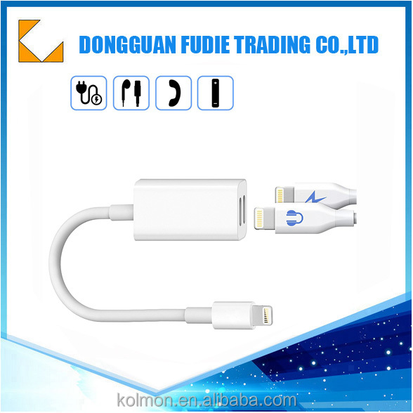headset charger 2 in 1 8 pin to 3.5mm audio cable headphone jack mp3 usb aux headphone adapter for iphone 7 /Iphone 7 plus