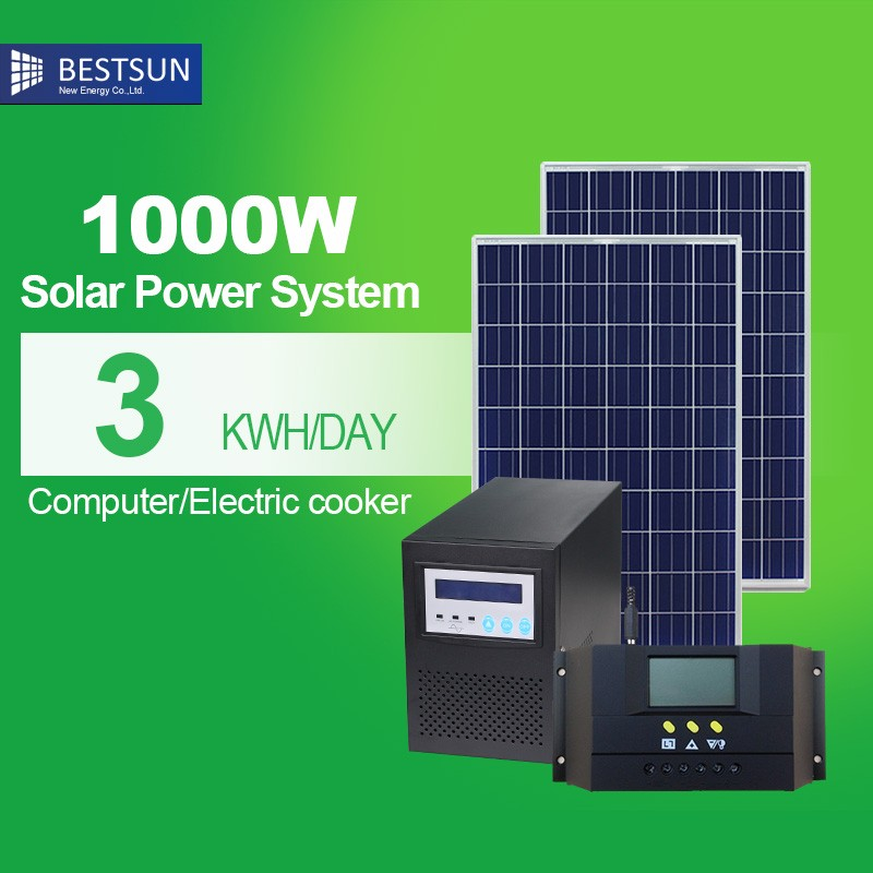 On Grid solar power system 1KW, Solar Ground mounting solarsystem