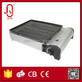 portable gas bbq grill with CE approved for double use