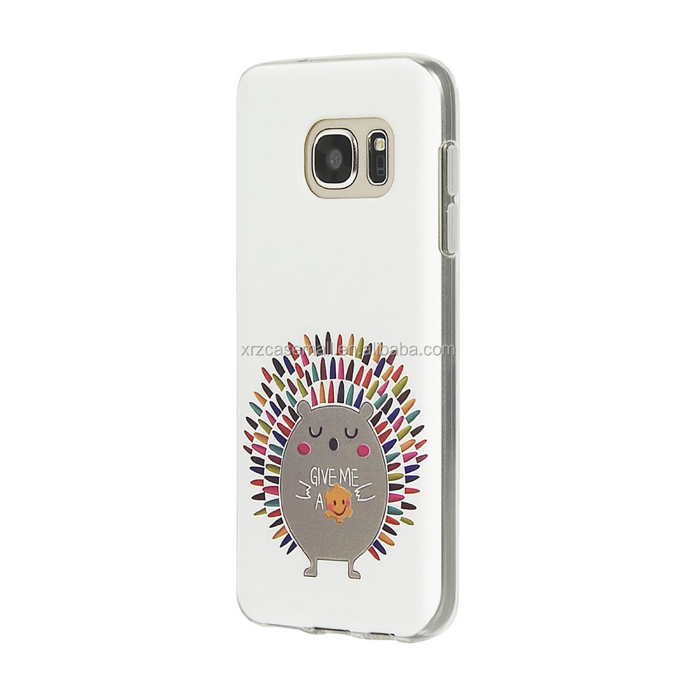 3D Relief Printing Pattern Hedgehog Design Scratch Resistant Full Protective Back Cover TPU Case for Samsung Galaxy S6
