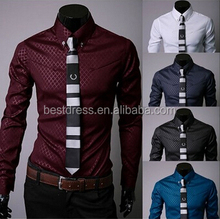 New Fashion Mens Formal Casual Suits Slim Fit Dress Shirts