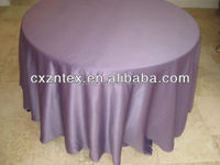 purple fashion table cloth with satin fabric