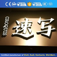Glareless Dimensional Outdoor Decorative Word Sign 3D Built Up Letter Signage