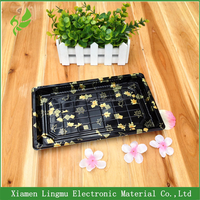 Disposable plastic printing food/ sushi box container tray