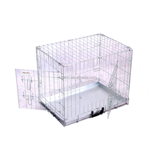 Top Selling Silver Dog Cage Pet Crate Folding Metal Wire Dog Kennel