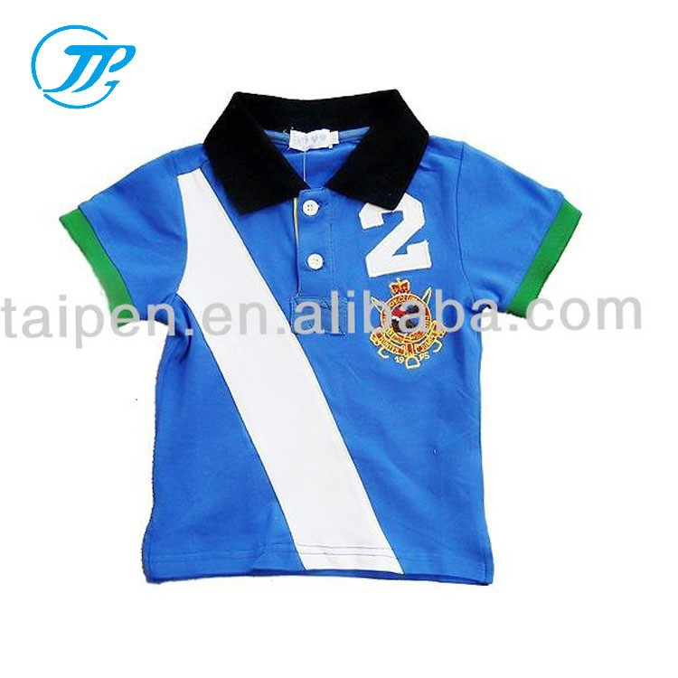 OEM Cotton Organic Printed Kids Boys Short Sleeve Polo T-Shirt Wholesale Sevice