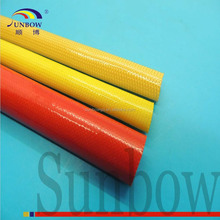 Amber color PU coated Polyurethane Fiberglass sleeving for F grade machinery