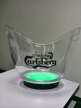 Rechargable Lighted LED Carlsberg Beer Ice Bucket
