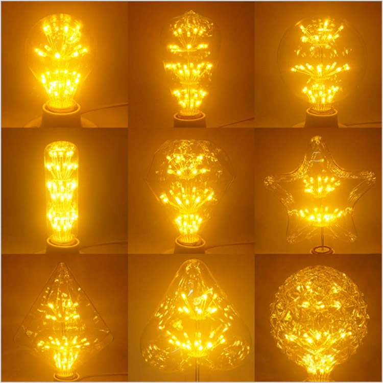 CE RoHS Soft Vintage Edison LED Filament Bulb, Cheap G80 G95 G125 G150 ST64 E14 E27 3W LED Bulb Kit