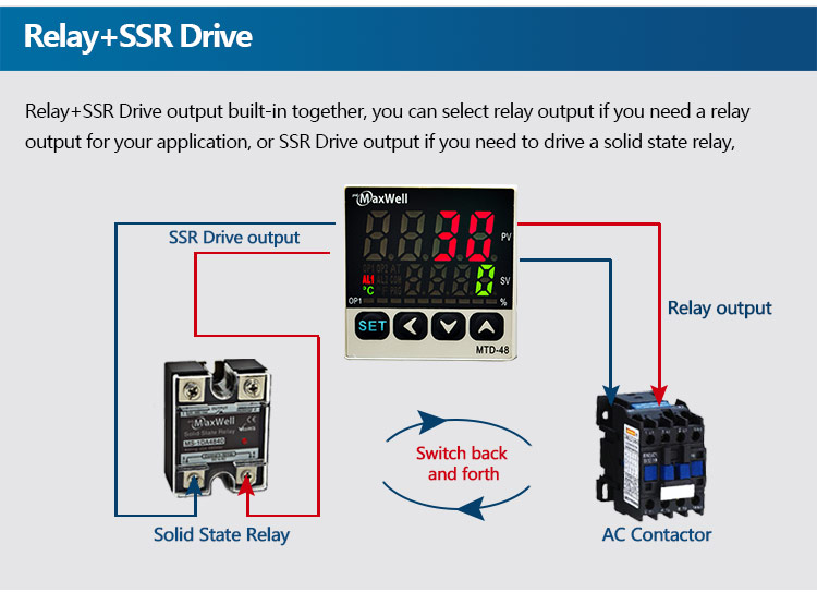 MTD-72 high quality digital thermoregulator with ssr and relay output
