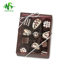 Brown truffle boxes with clear window chocolate box food packing box