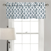Custom Color Bedroom Simple Design 100% polyester blackout printed fabric curtain Valance