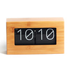 MK-TIME Hot Sale Modern Style Bamboo Retro Flip Clock