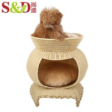 Wholesale selling products home fashion pe rattan large capacity cat and dog container pet house for indoor