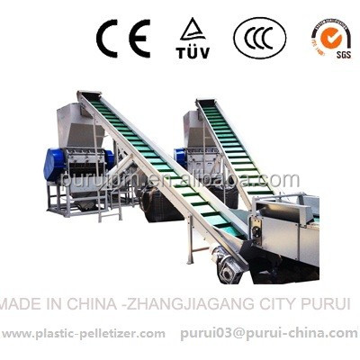 PP woven bag recycling washing machine with double shaft shredder