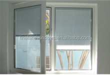 Built-in intelligent hollow glass shutter,Hollow PVC shutter glass window, shutters inside double glazed window