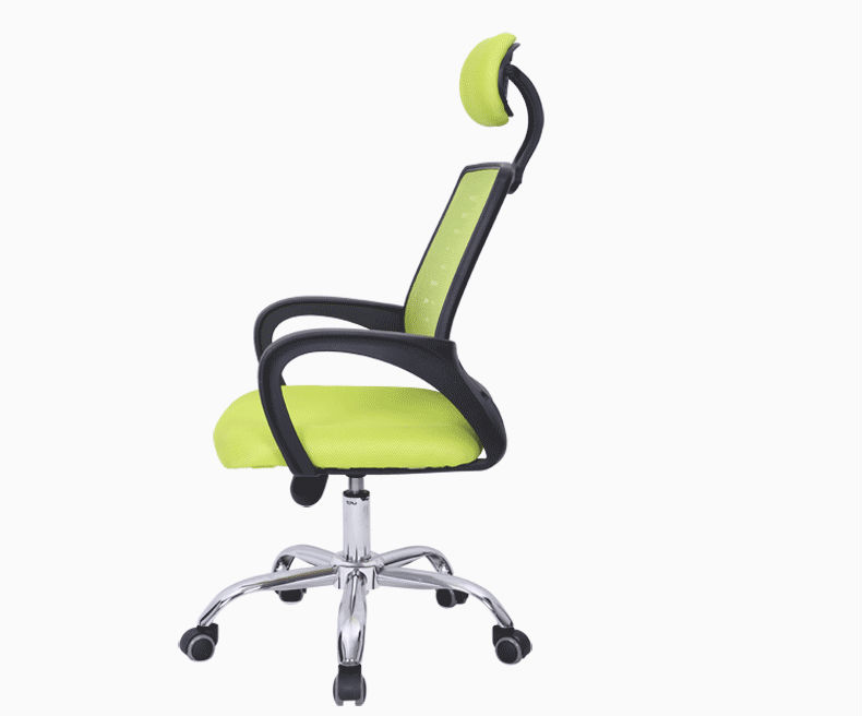 D28 modern green office chairs with neck support