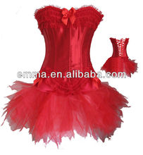 Burlesque Corset & tutu skirt Fancy dress outfit Halloween Costume C765
