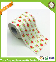 Flower Pattern Printing toilet paper, 2 Ply Embrossing Lovely Paper Roll