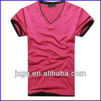 hot sell slim fit blank t-shirt custom blank t shirt soft 50% cotton 50% polyester t-shirts