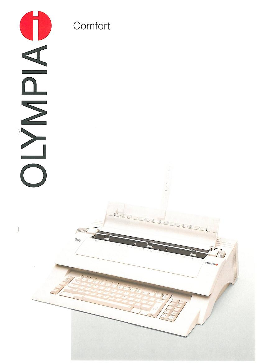 Olympia Electronics Typewriter - Comfort & Comfort MD