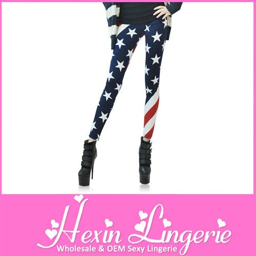 Wholesale Latest 2012 Fashion American Flag Jeggging Pants