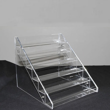Modern Stair-Step Clear Acrylic cosmetic Riser Display Stand