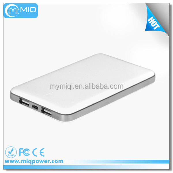 MIQ 10000mah slim mobile charger portable cell phone power bank and emergency phone battery charger