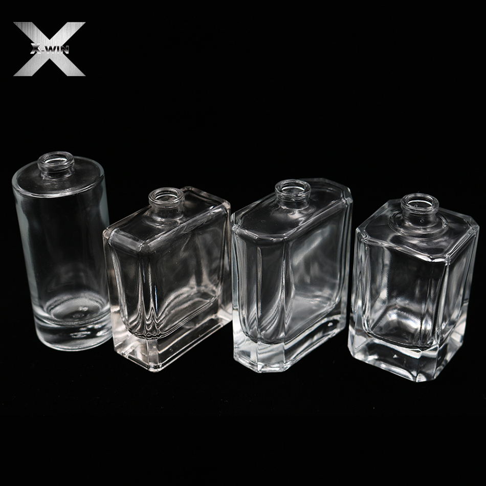 customize 30ml-120ml fancy square men cosmetic crystal glass perfume bottle