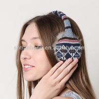 lady fashion winter knit fashionable cheap earmuff