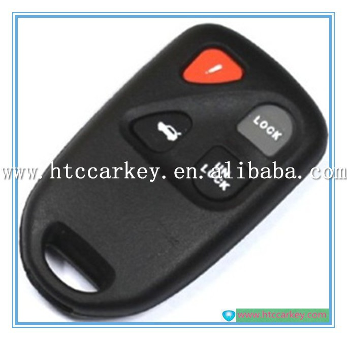 Good quality remote key shell 4 button for mazda car key case