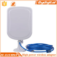 Bydigital high power 10M cable outdoor wifi antenna 12dbi USB wireless wifi adapter 802.11b/g/n adapter