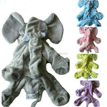custom plush 60cm gray pink purple elephant pillow skin toy