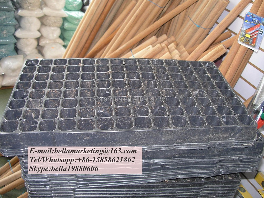 98 Cells Plastic Material and Seed Trays Type plastic nursery trays for garden