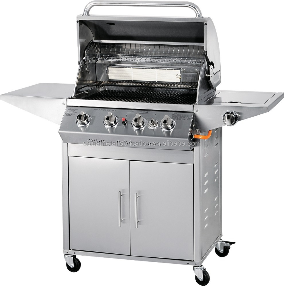 Optional Models All Stainless Steel Best 4 Burner Gas Bbq with Side Burners