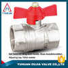 TMOK Female and Female 1/2'' brass ball valve Full bore Butterfly aluminum handle CE approved water valve in China